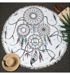 Beach towel round yoga Mat wall Hanging 150cm Catch-dreams