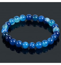 Bracelet Lithotherapie blue Agate - luck, inner peace