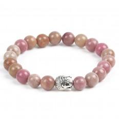 Bracelet en Rhodonite + perle Bouddha