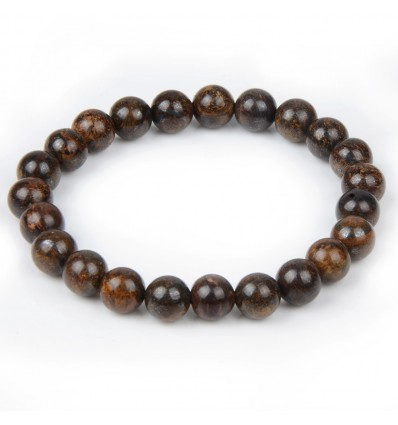 Bracelet Lithotherapie in Bronzite - Focus and courtesy