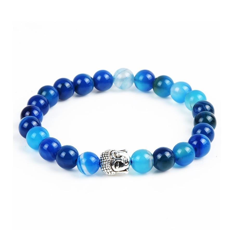 Bracelet pierre bleue