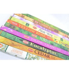 "Assortment of incense, Bouquet ""blessings of Nature"" 10 fragrances. Lot of 80 sticks brand HEM."