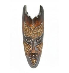 Maschera di legno di 30 cm - decorazione etnico chic in stile africano.
