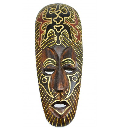 African decoration. Purchase african mask wood pattern gecko.