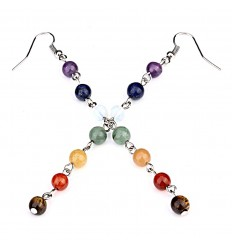 Earrings 7 chakras stone yoga lithotherapie purchase not expensive.