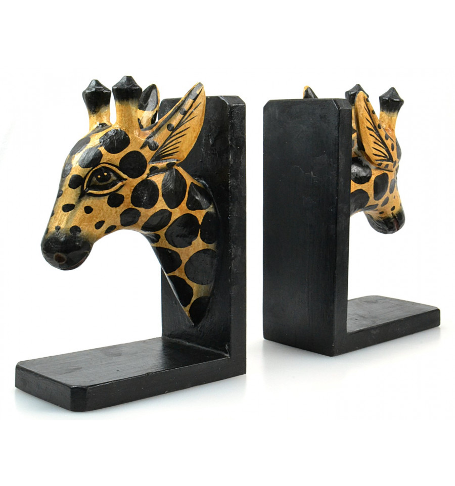 serre livres original t te de girafe en bois s rie limit e. Black Bedroom Furniture Sets. Home Design Ideas