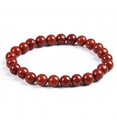 Bracelet Lithothérapie en Jaspe rouge - Protecteur suprême