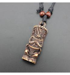 Necklace mixed men's / women's with pendant Tiki - jewelry maori Hawaii Tahiti