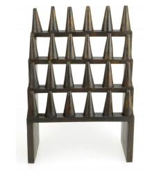 Large door-rings / Display-rings (24 cones) in wood hue chocolate brown