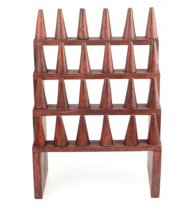 Door-rings / Display-rings (24 cones) solid wood red color