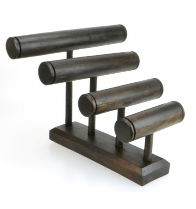Great display stand for bracelets/watches 4 rods, solid wood tint brown