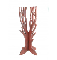 Jewelry tree for necklaces, bracelets,watches, solid wood red color