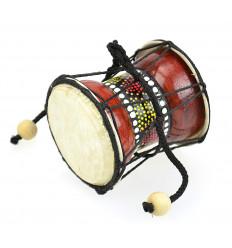 Mini Djembe tamburo di mano in legno e pelle - Strumento musicale e oggetto deco