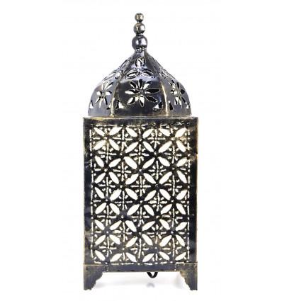 Lampe marocaine à poser fer forgé pas cher. Décoration orientale.