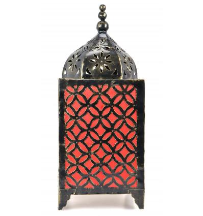 Lampe de salon orientale fer forgé artisanal orange. Déco maroc.
