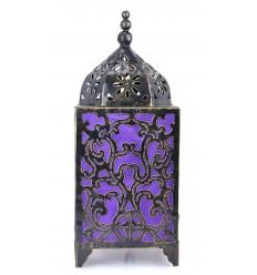 Lampada per chiedere di artigianato, in ferro battuto, decorato in stile barocco viola.
