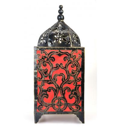 Lampe d'ambiance artisanale fer forgé, décoration baroque originale.