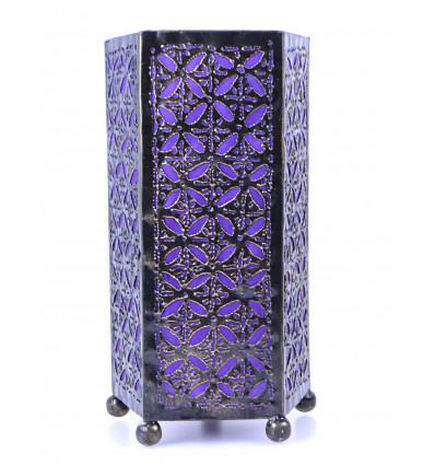 Bedside table lamp oriental furniture wrought iron cheap. Moroccan room.