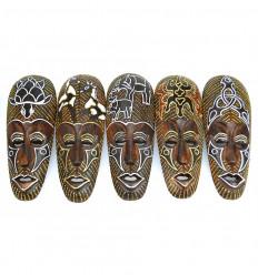Deco africano a buon mercato. Lotto 5 maschere africane, i modelli in legno animali.