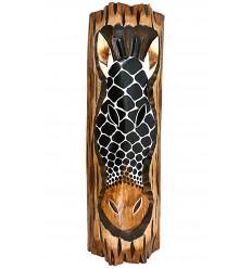 Decorazione da parete-Giraffa in legno a tema savana africana etnica.