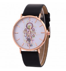 Watch fantasy woman pattern Catch-Dreams - black Strap