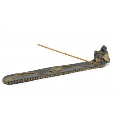 Porte-encens pour bâtons avec statuette Happy Bouddha.