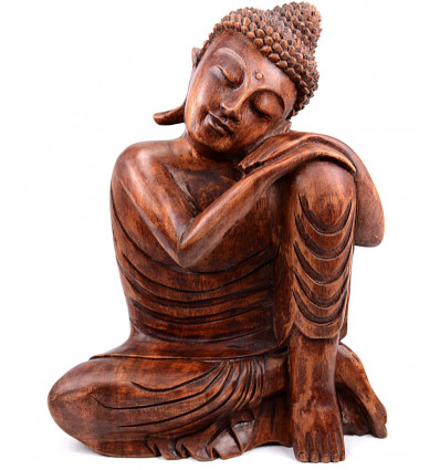 sculpture buddha thinker cheap wood