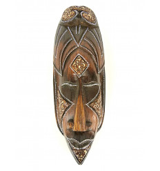 Mask african style wooden 30cm - exotic decoration