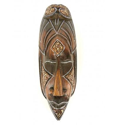 Masque style africain en bois 30cm - décoration exotique