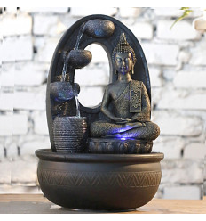 Grande piscina fontana Zen Buddha armonia di illuminazione a led.