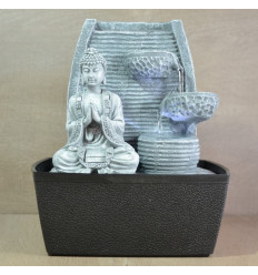 Indoor fountain Buddha Zen with water wall and Led lighting