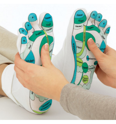 Socks moisturizing reflexology massage, gift idea of well-being.
