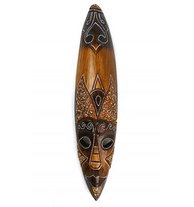 Grande maschera africana in legno a buon mercato. Decorazione della parete africano.