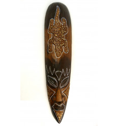 African mask pattern salamander lucky. Deco exotic wood.