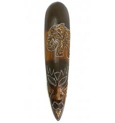 Masque africain éléphant, fabrication artisanale en bois pas cher.