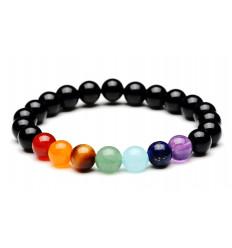 Bracelet healing 7 chakras. Onyx and semi-precious stones