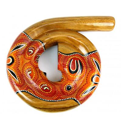 Didgeridoo australien spirale escargot, peinture aborigène. Achat.