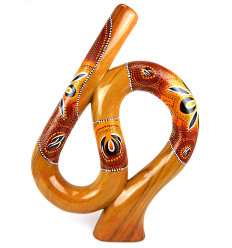 Didgeridoo spiral form S. handcrafted in wood.