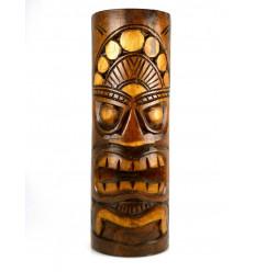 Grande Statua Totem Tiki H 50 cm in legno massello intagliato a mano