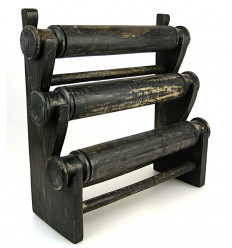 """Door-bracelets and watches / Display jewellery 3 rings in the wood finish """"black vintage"""""""
