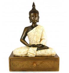 Coffret / boîte à bijoux avec statue de Bouddha. Création artisanale.