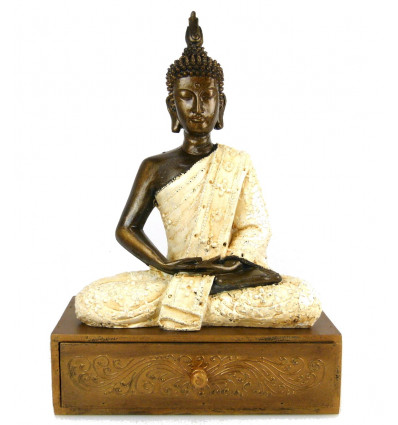 Coffret boîte rangement bijoux Bouddha déco ethnique chic original.