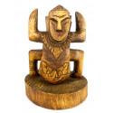 Totem statue koh lanta en bois, trophée agence événementiel original.