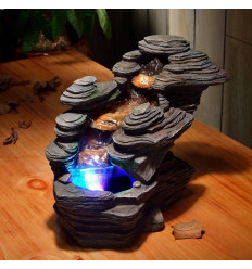 Indoor fountain natural river scenery stone, Led lighting.