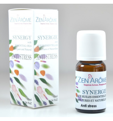 Essential oils for diffuser, synergy, anti-stress and well-being.