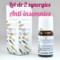 Remède naturel anti-insomnie, synergie huile essentielle à diffuser.