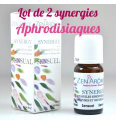 Lotto di 2 sinergia con oli essenziali afrodisiaci