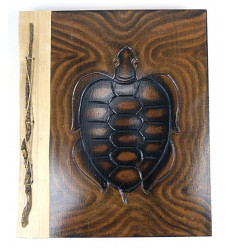 Album di foto di vacanze riciclato, fatto a mano, artigianale, originale tartaruga.