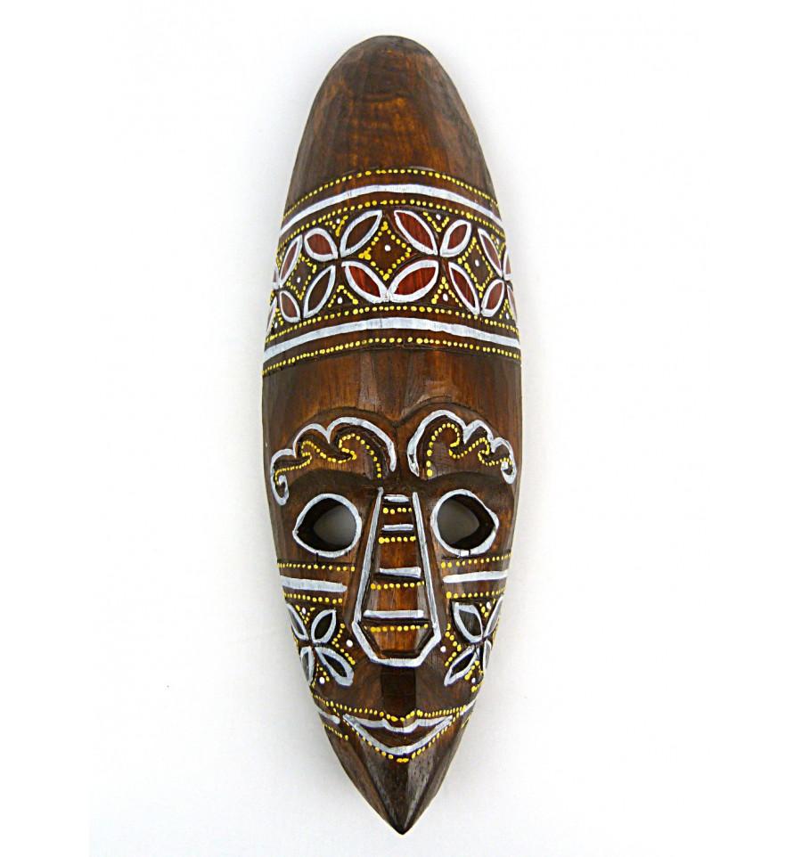 petit masque ethnique motif batik en bois pas cher. Black Bedroom Furniture Sets. Home Design Ideas