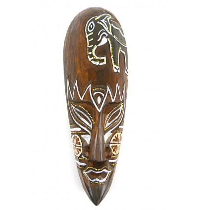 Mask decor elephant batik wooden 30cm